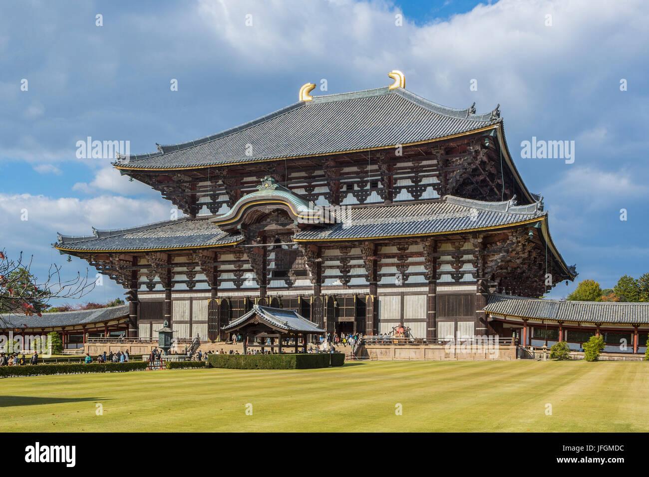Japan, Kansai, Nara City, Todai-ji Temple, UNESCO World Heritage, - Stock Image