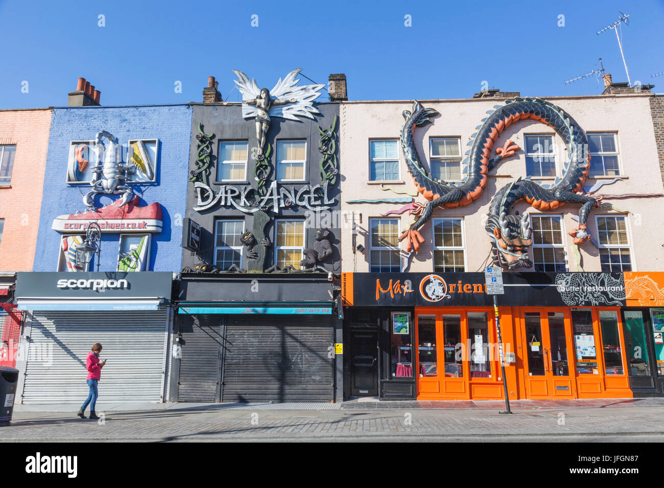 England, London, Camden, Colourful Shop Fronts - Stock Image