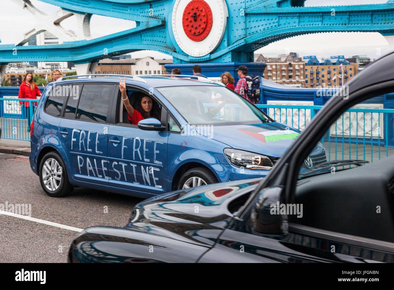 England, London, Free Palestine Demonstrators - Stock Image