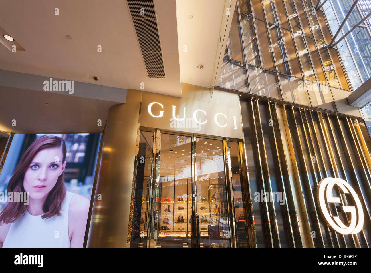696c4f7b34 China, Hong Kong, Central, Landmark, Gucci Store Stock Photo ...