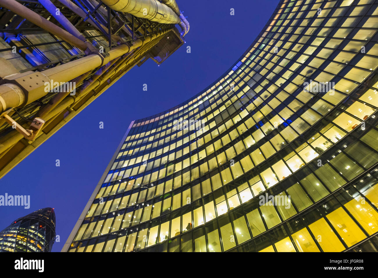 England, London, The City, The Willis Building, Architect Foster+Partners - Stock Image