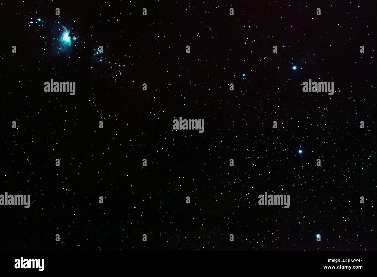 Chile, San Pedro de Atacama, stars, belts of Orion, Deep Sky Stacking - Stock Image