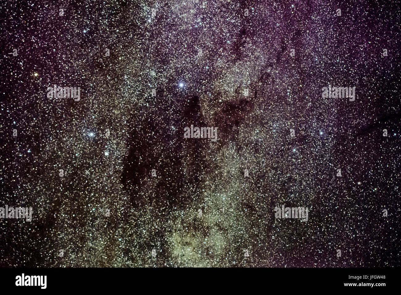Chile, San Pedro de Atacama, stars, coal pouch, cross of the south, Deep Sky Stacking - Stock Image