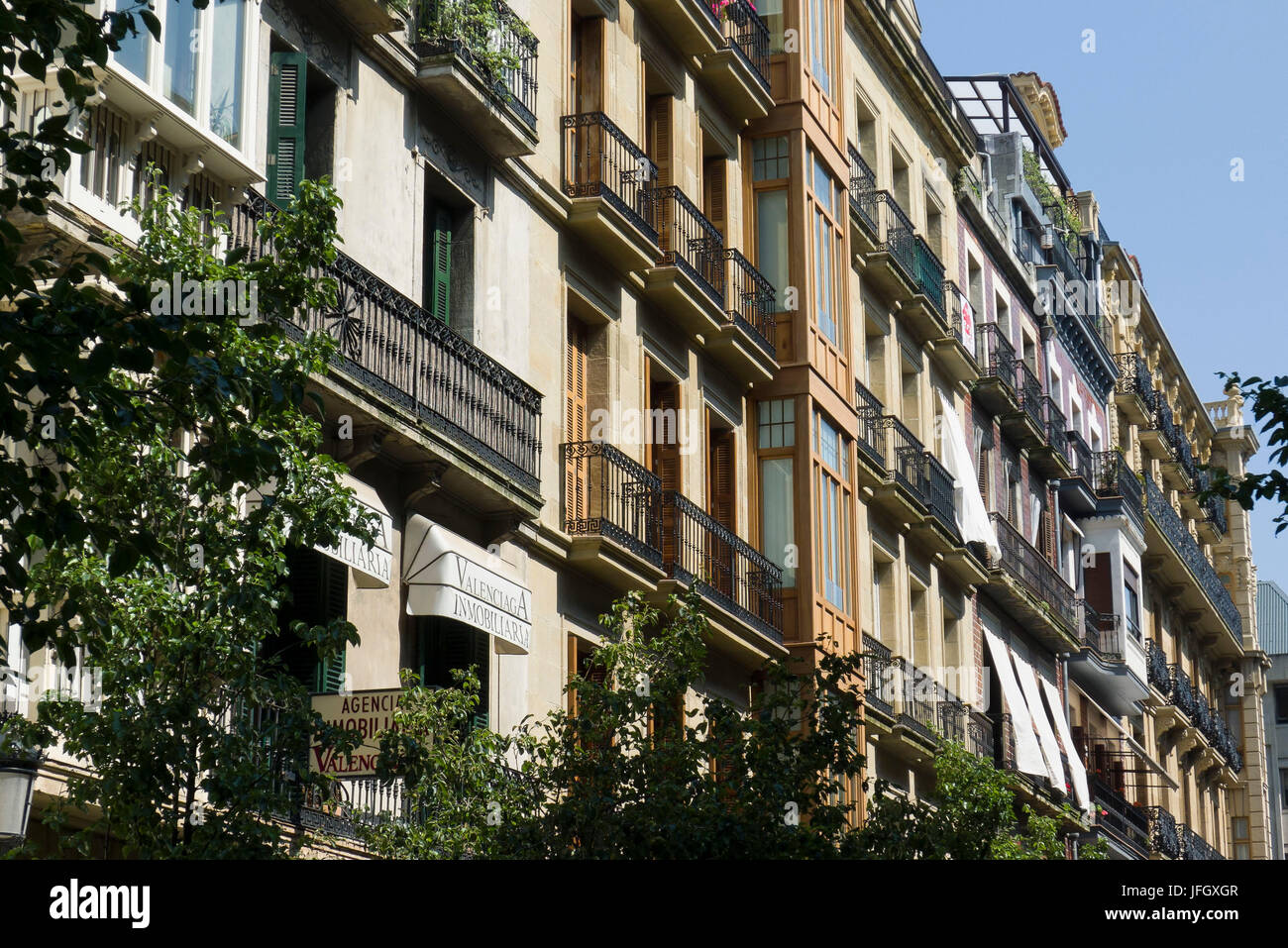 City centre, Donostia-San Sebastián, Gipuzkoa, the Basque Provinces, Spain - Stock Image