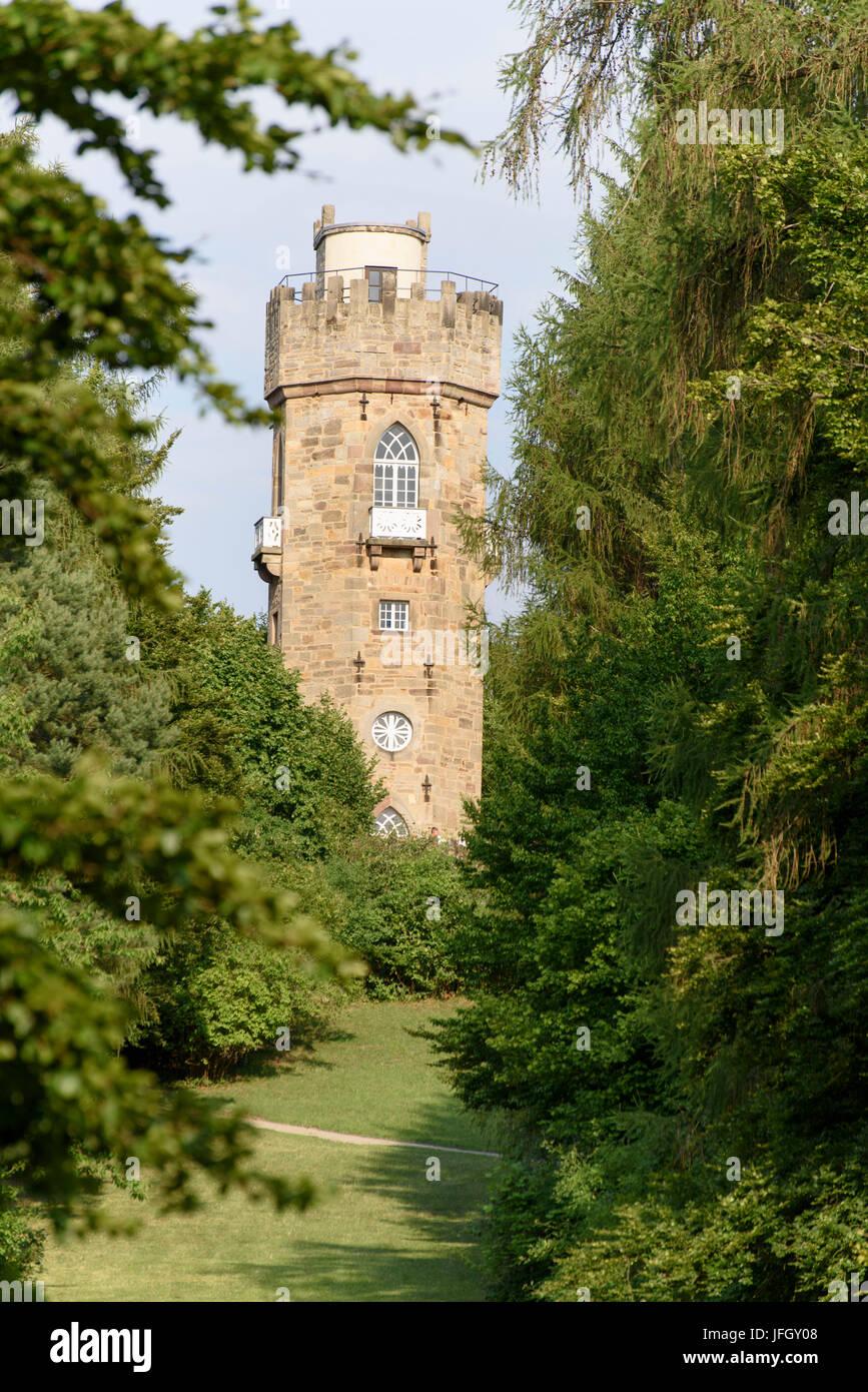 Castle grounds Wilhelmsthal, Kassel Calden, Hessian, Germany - Stock Image