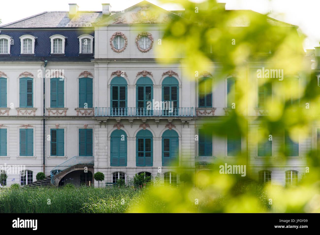 Castle and park Wilhelmsthal, Kassel Calden, Hessian, Germany - Stock Image