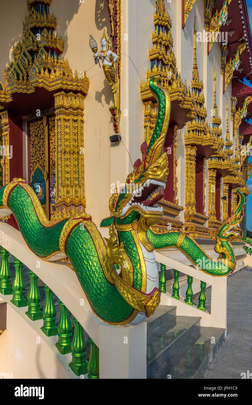 Wat Plai Laem Tempel in Ban Bo Phut, island Ko Samui, Thailand, Asia Stock Photo