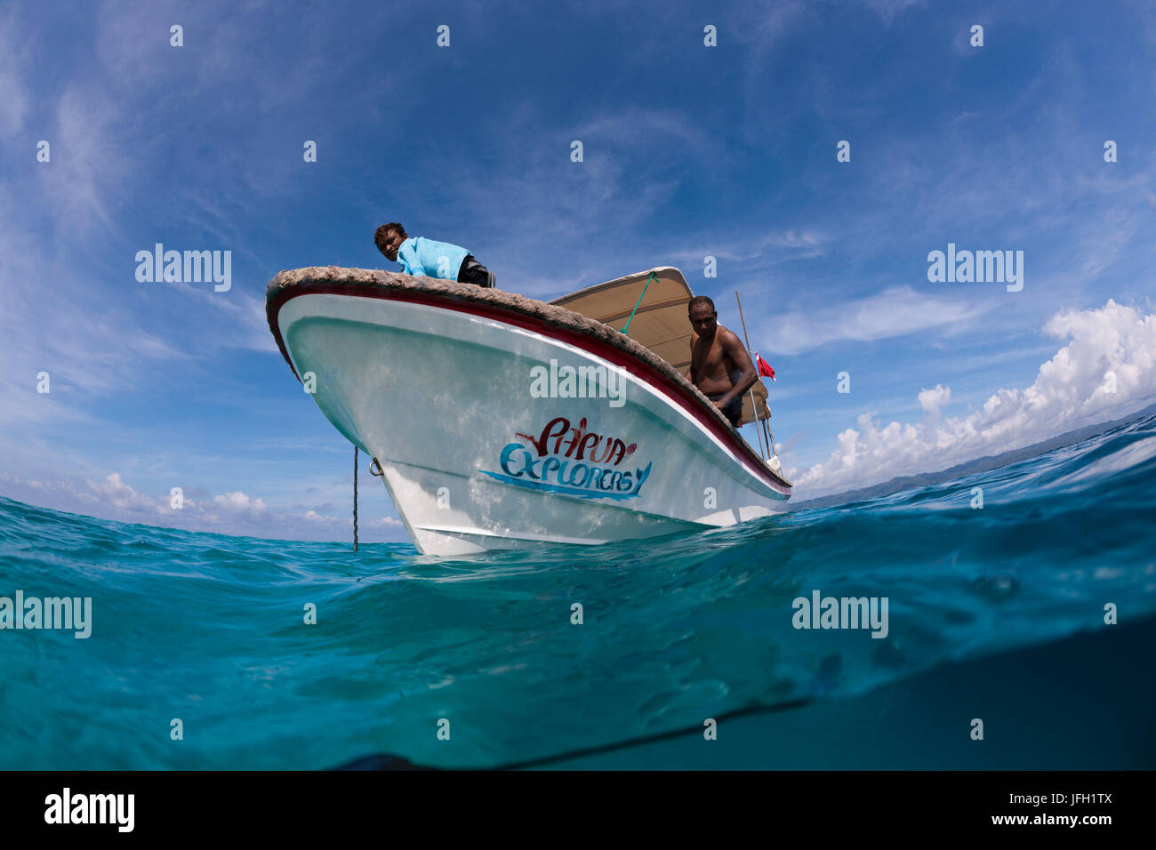 Submarine Papua Explorers Resort, Gam, Raja Ampat, west Papua, Indonesia - Stock Image