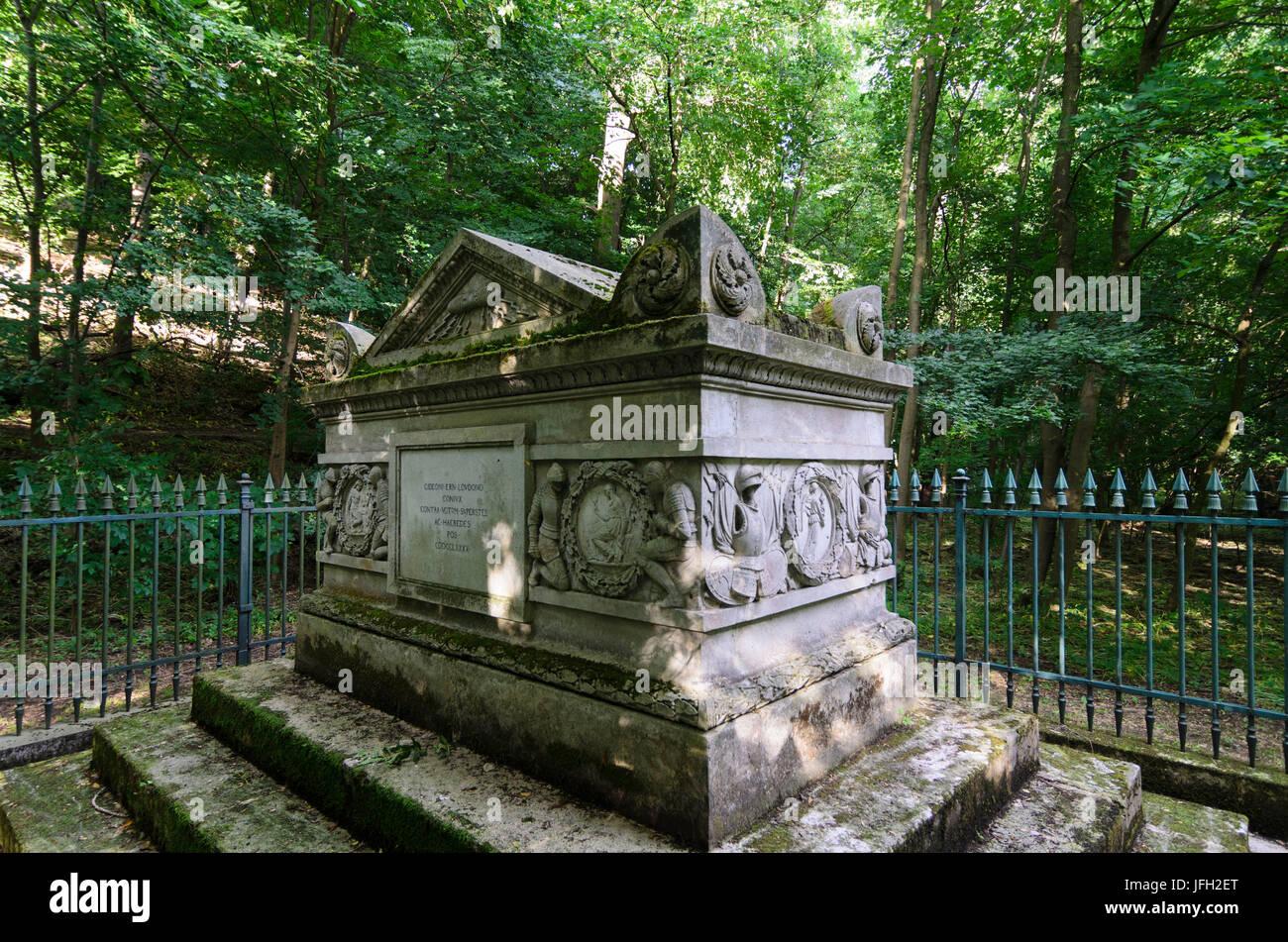 Tomb of Gideon Ernst von Laudon in the Viennese wood, Austria, Vienna, 14., Vienna Stock Photo
