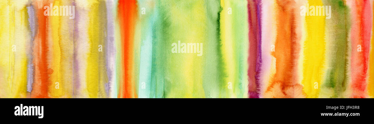abstract colorful watercolor banner - Stock Image