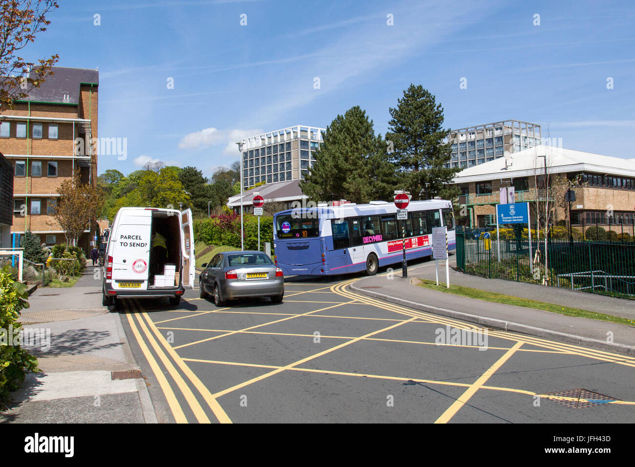 Traffic Congestion at Singleton Hospital - Stock Image