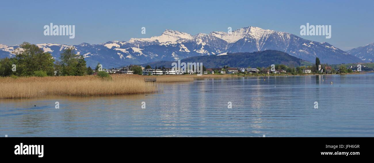 Springtime in Rapperswil - Stock Image