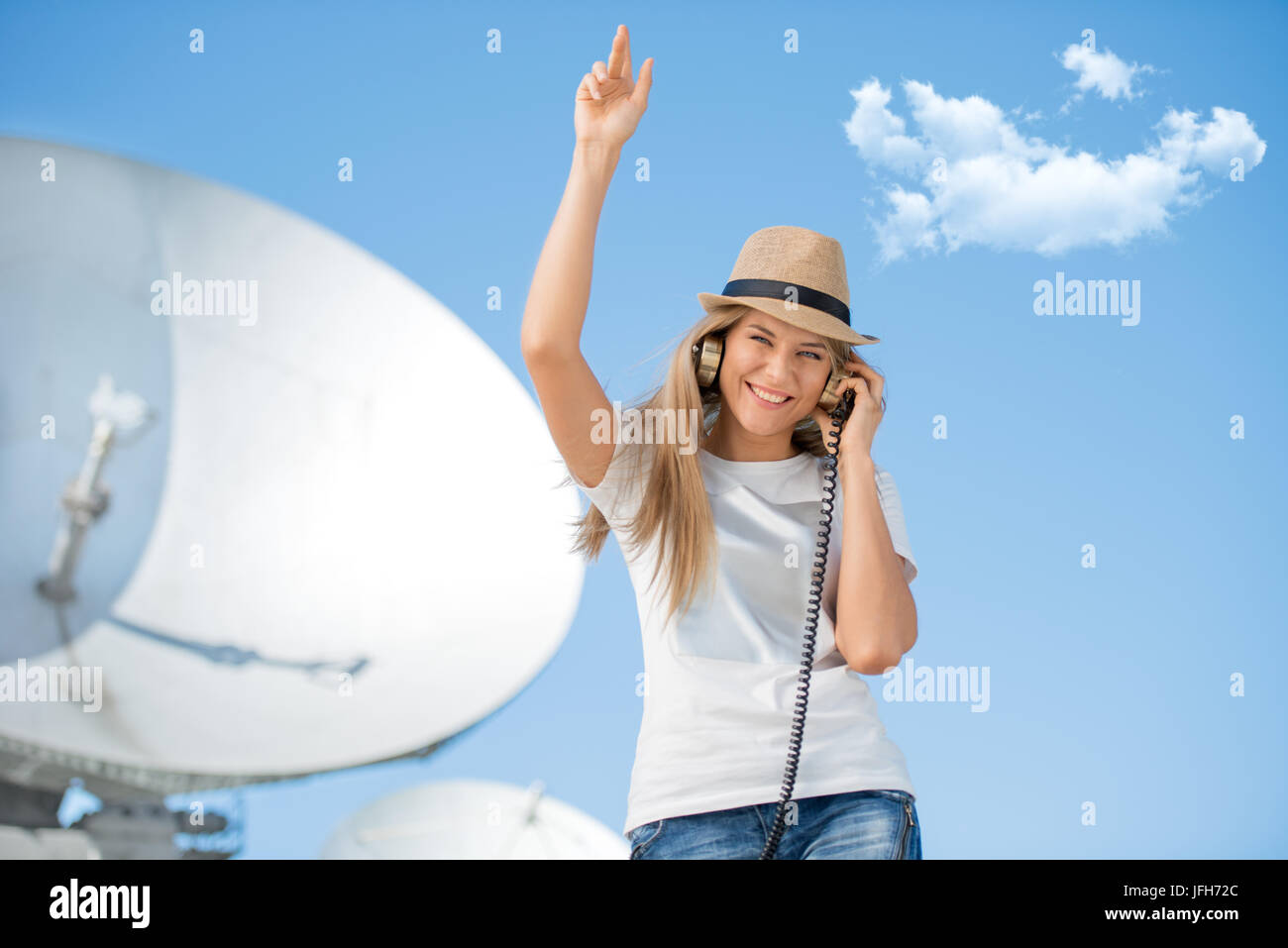 Entertaining technology. - Stock Image