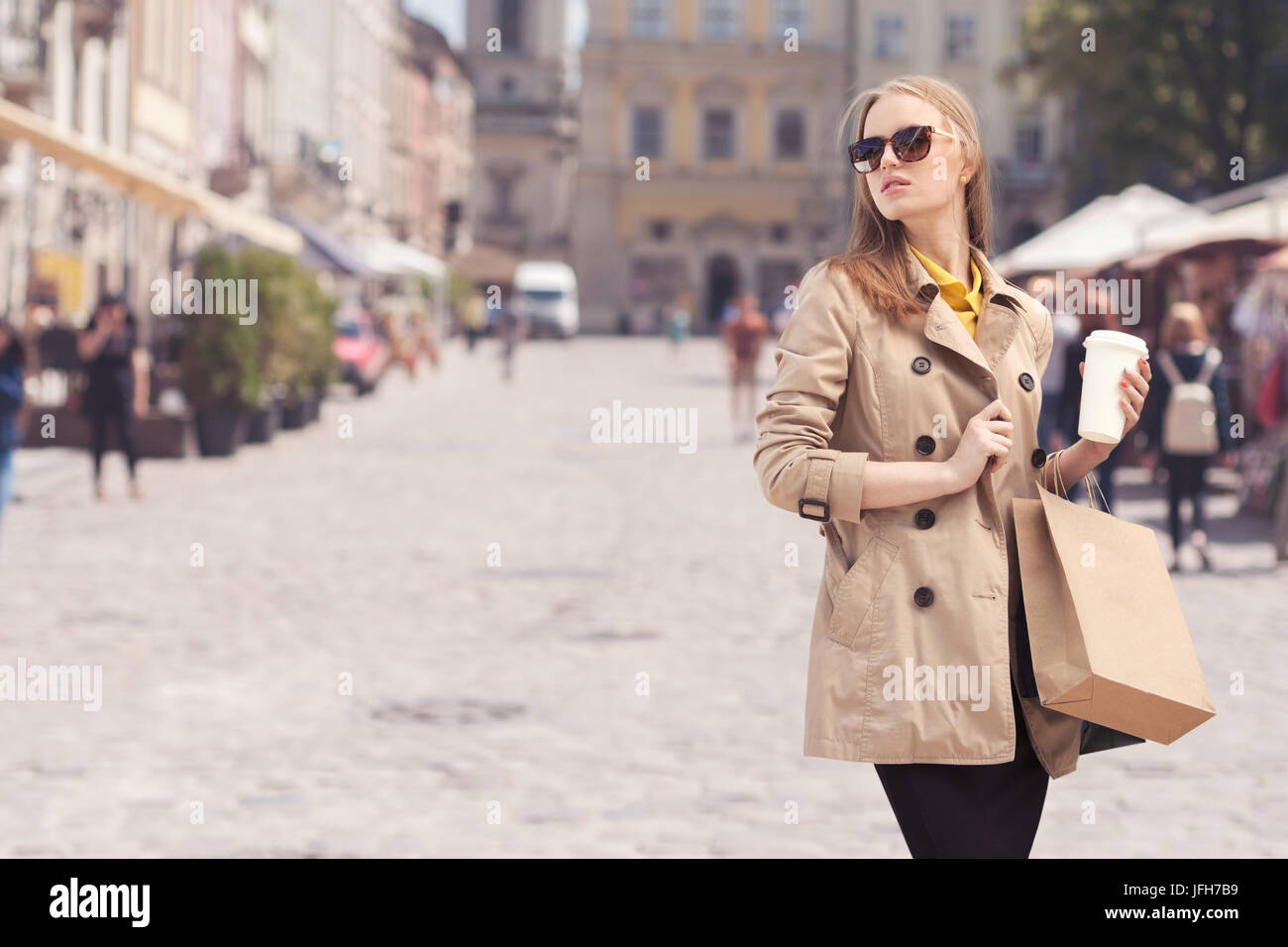 Shopping therapy. - Stock Image