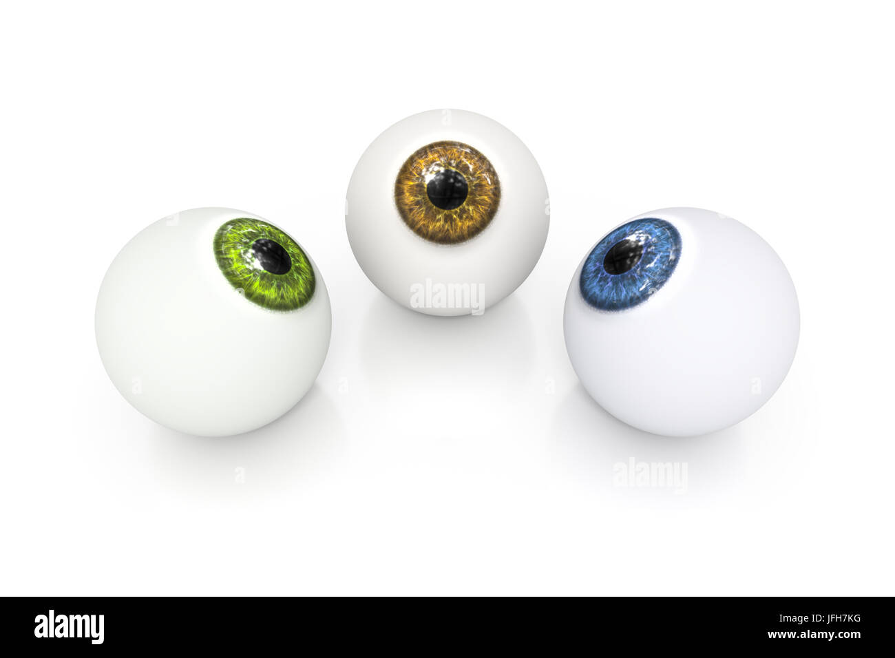 brown green and blue eyeball - Stock Image