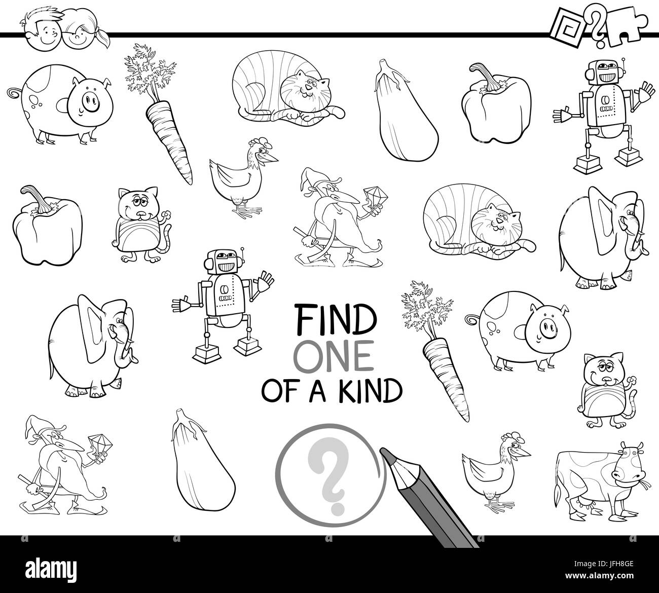one of a kind for coloring Stock Photo