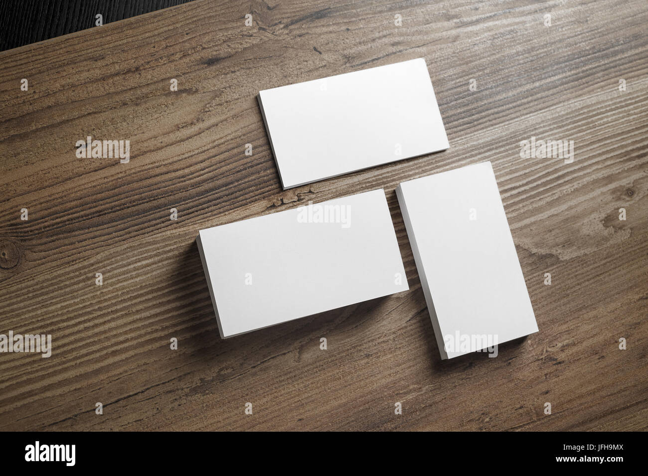 Piles of blank business cards Stock Photo: 147283610 - Alamy