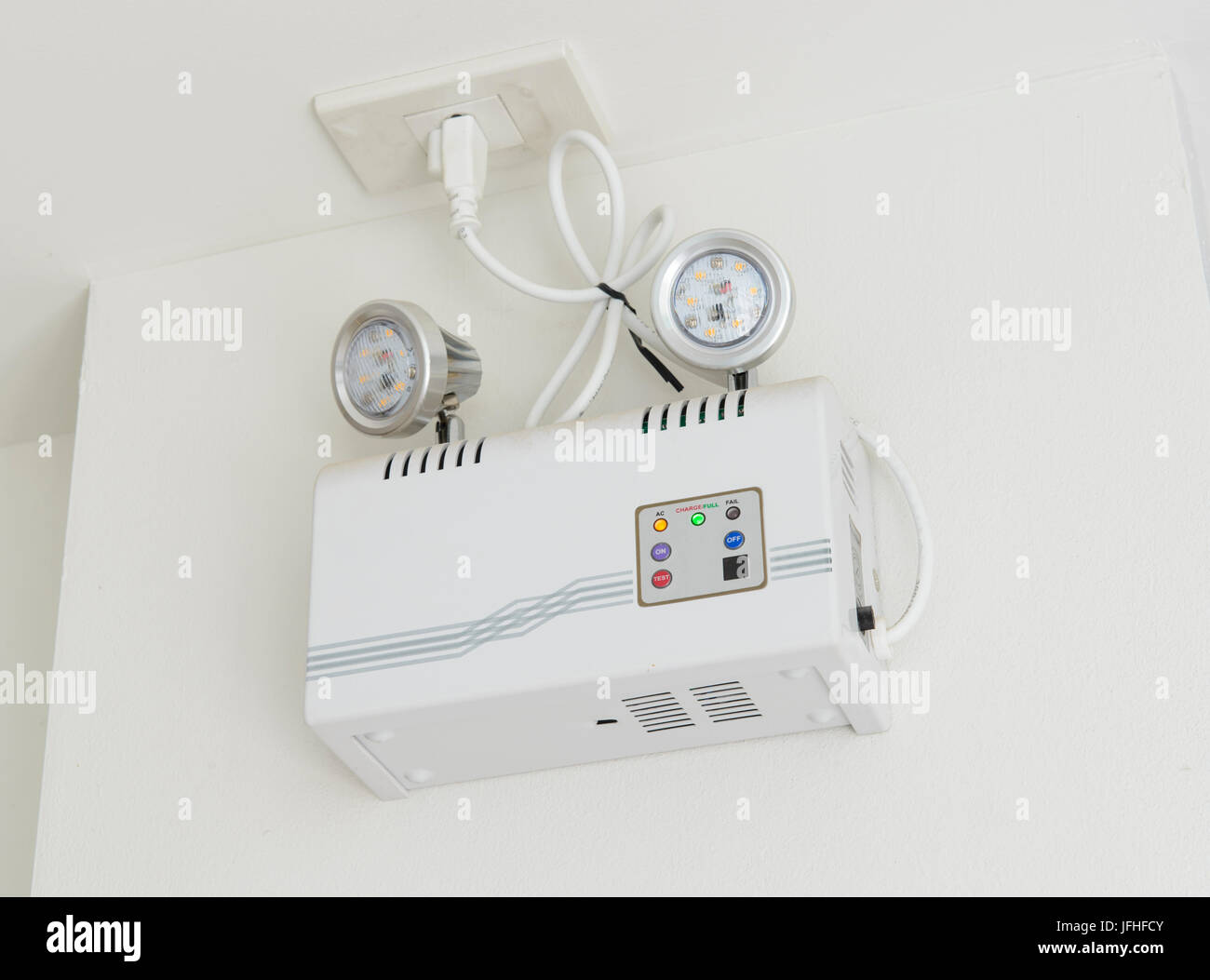 Emergency Electric Lamp Stock Photos Light And Alarm Lighting On The Wall Image