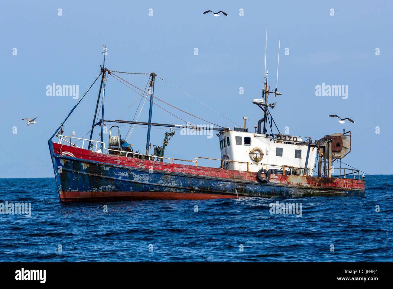 Fishing boat off West Coast of Ireland, near Valentia ...