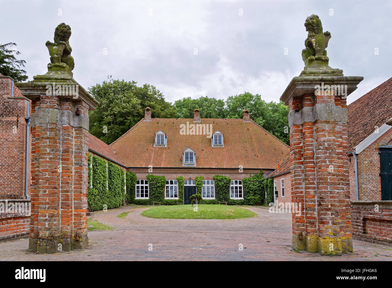 Osterburg in Groothusen, East Frisia - Stock Image