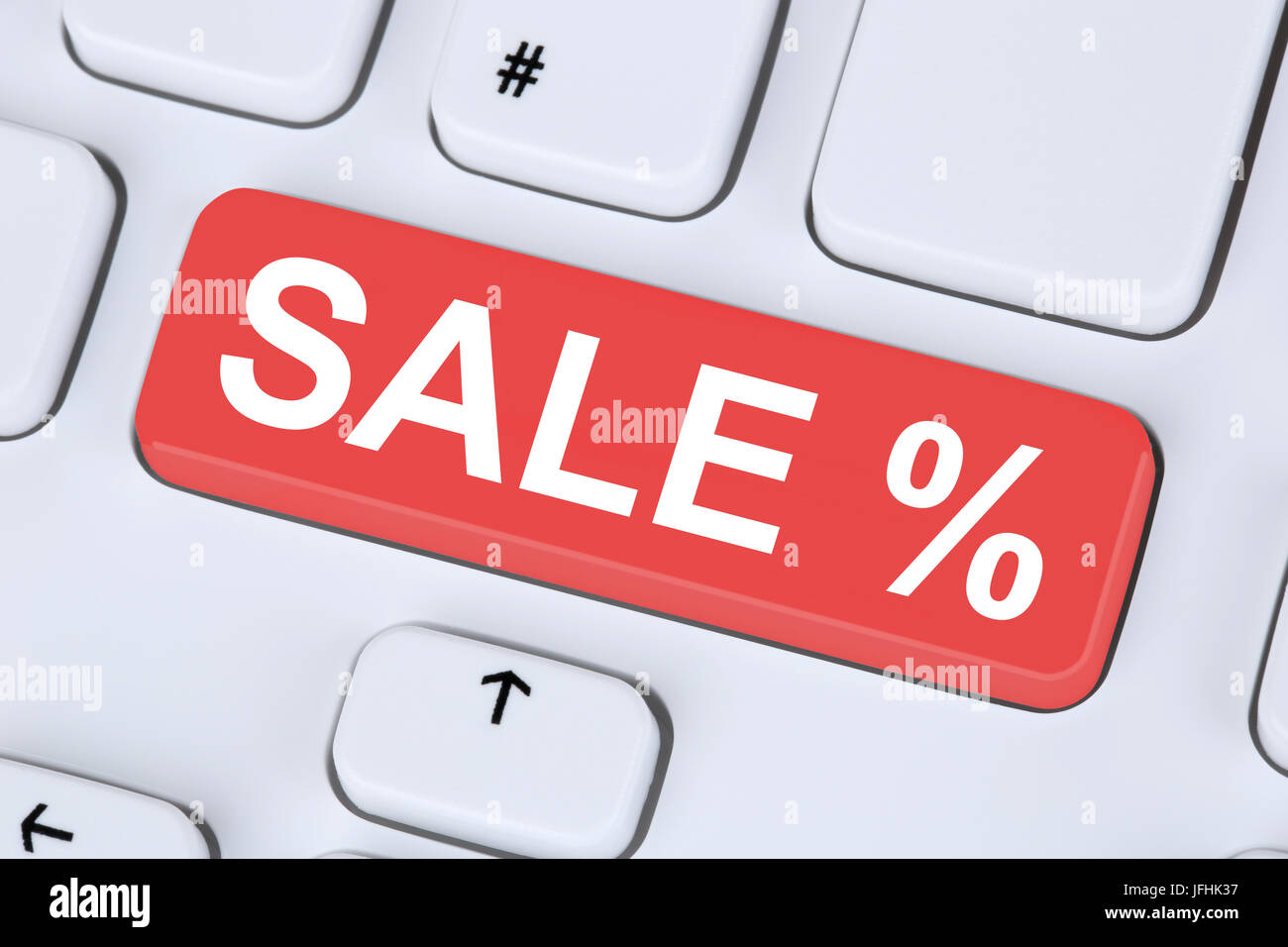 Sale Ausverkauf Online Shopping E-Commerce einkaufen im Internet Stock Photo