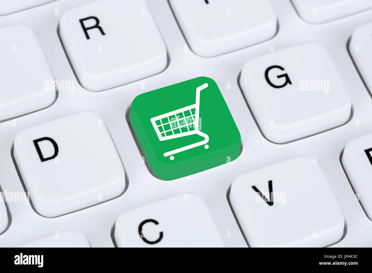 Online Shopping E-Commerce einkaufen im Internet Stock Photo