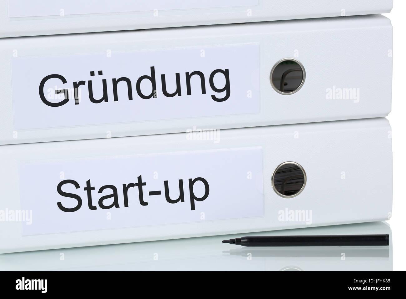 Gründung einer Firma oder Start-up Unternehmen Business Konzept - Stock Image