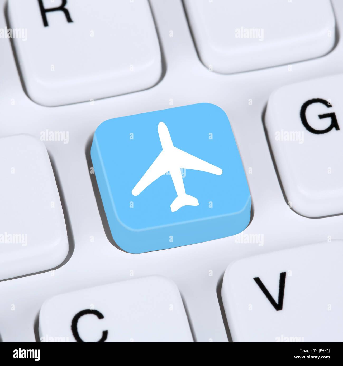 Internet Konzept Reisen und Urlaub online buchen E-Commerce einkaufen - Stock Image