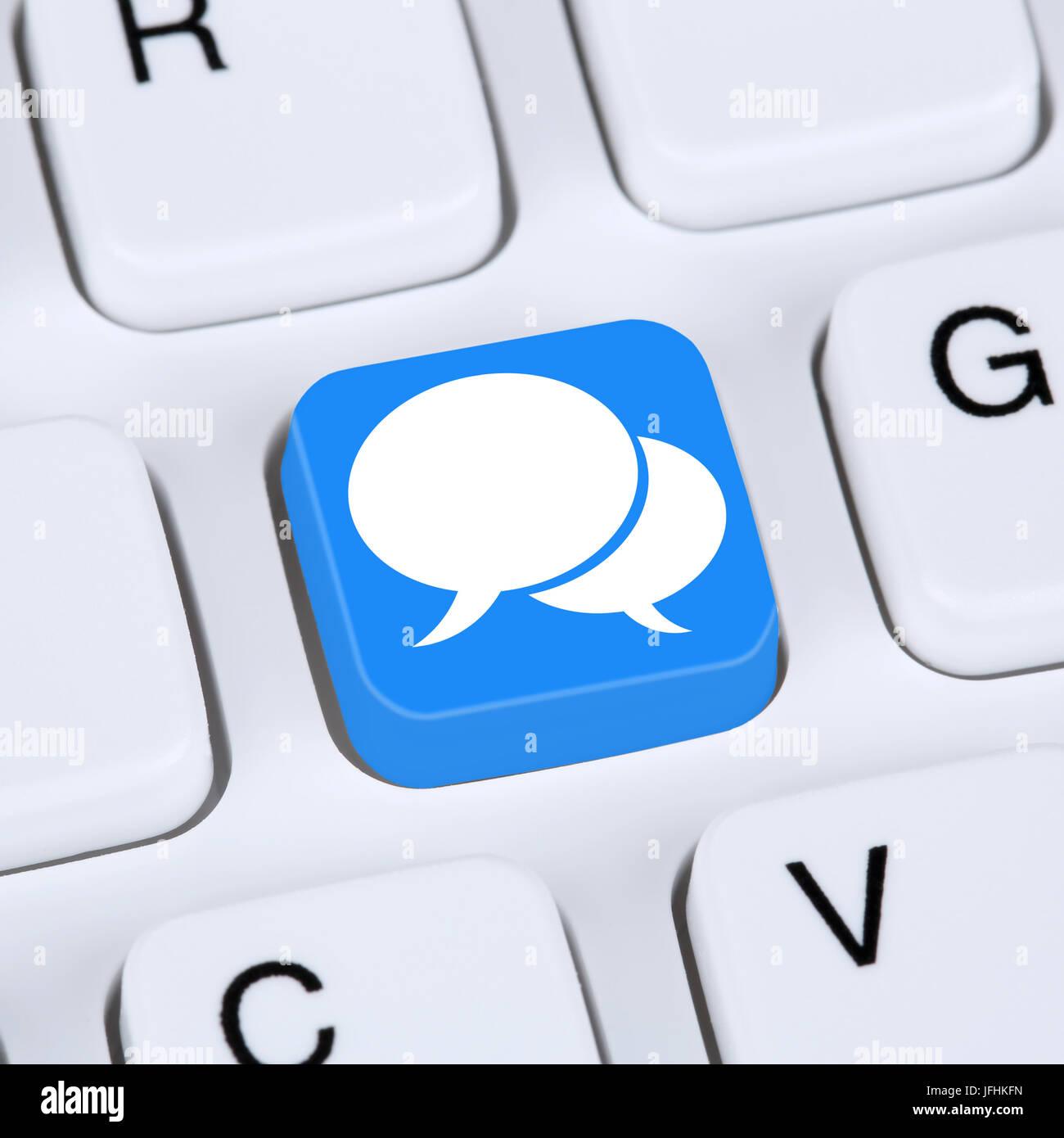 Internet Konzept Soziale Medien und soziales Netzwerk Freundschaft Kontakte - Stock Image