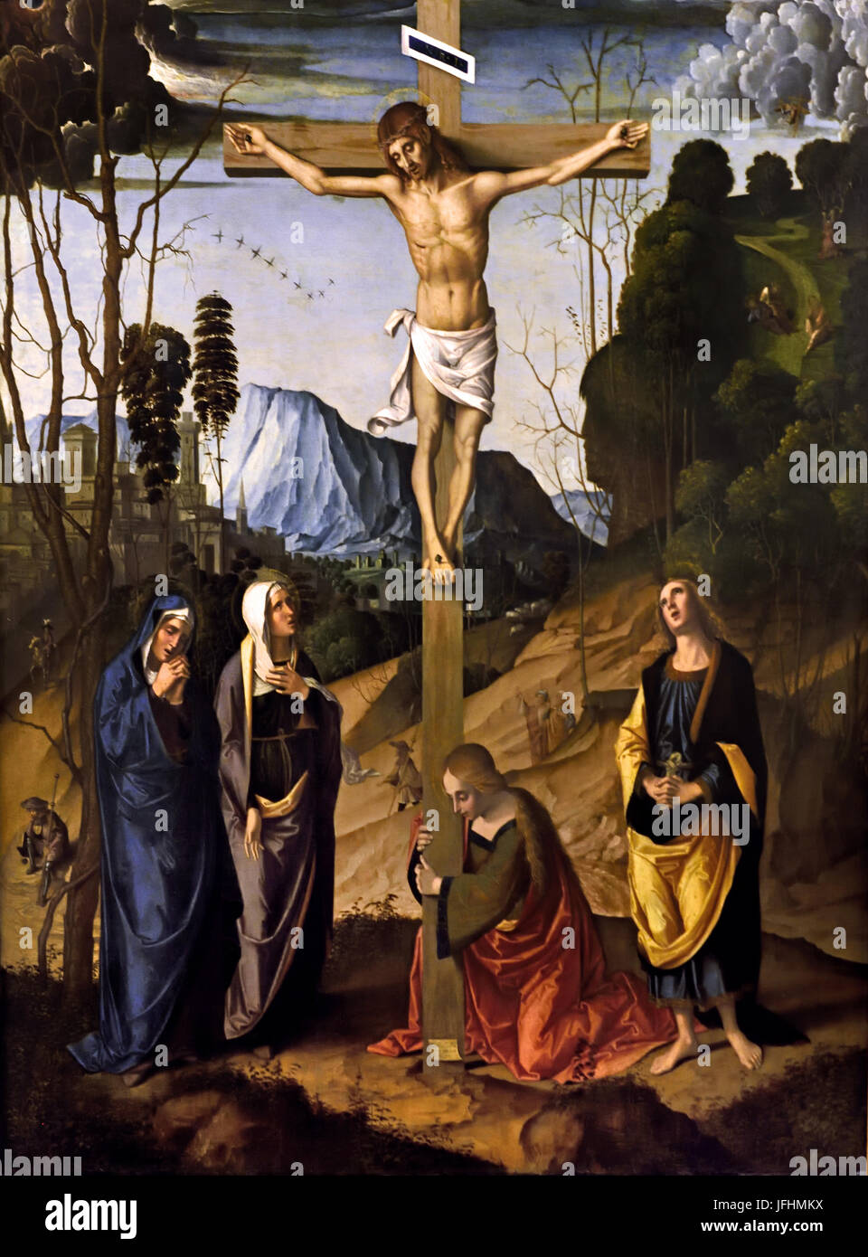 Crucifixion 1500 Marco Palmezzano 1459-1539 Italy Italian - Stock Image