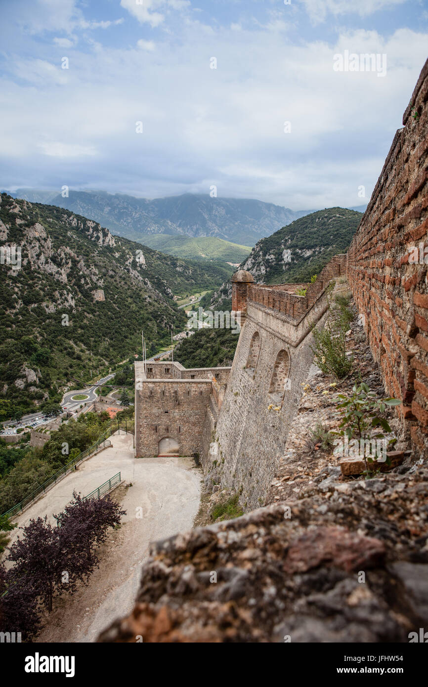 Villefranche de Conflent - Fort Liberia Stock Photo