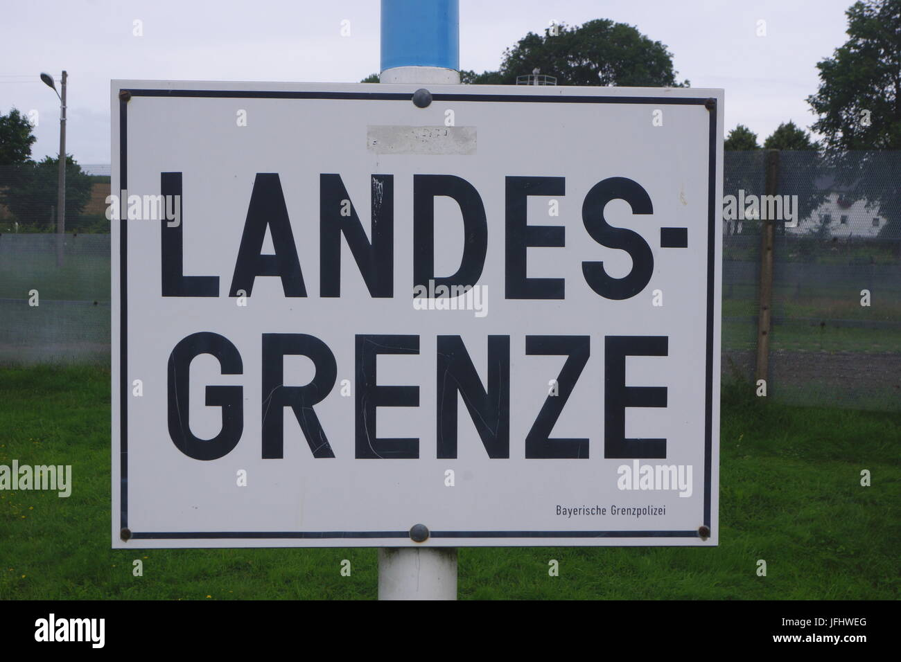Country Border Germany Sign - Stock Image