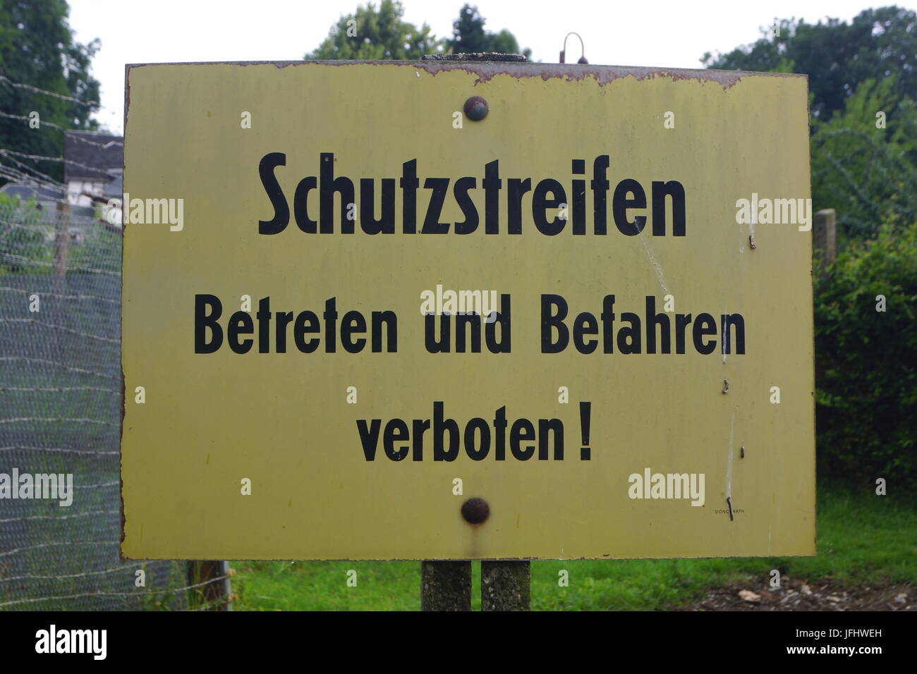 Guard Bar Sign,East Germany Stock Photo
