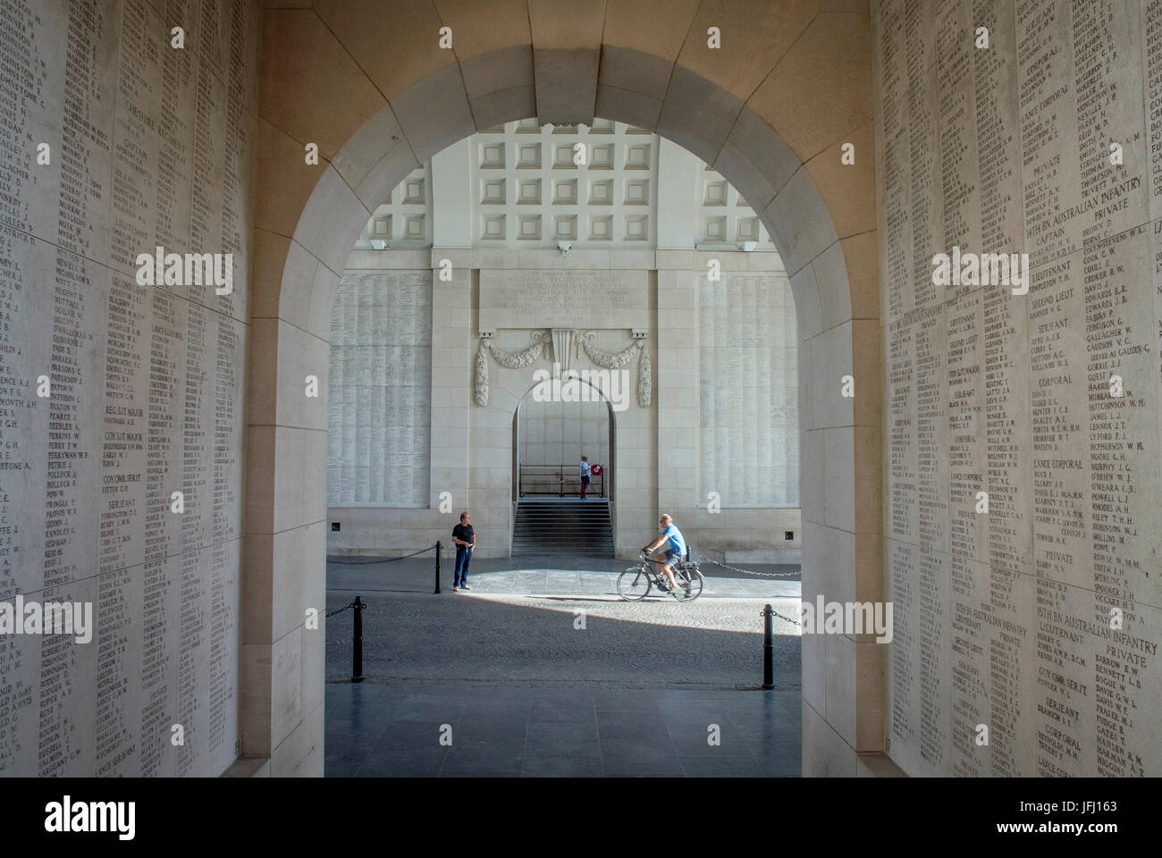 The Menin Gate Memorial to the Missing is a war memorial in Ypres, Belgium, dedicated to the British and Commonwealth Stock Photo