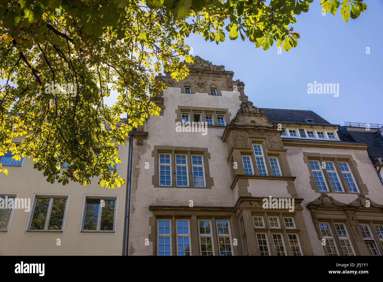 Europe, Germany, Rhineland-Palatinate, the Moselle, Moselle valley, Trier, Old Town, former banking house of Reverchon - Stock Image