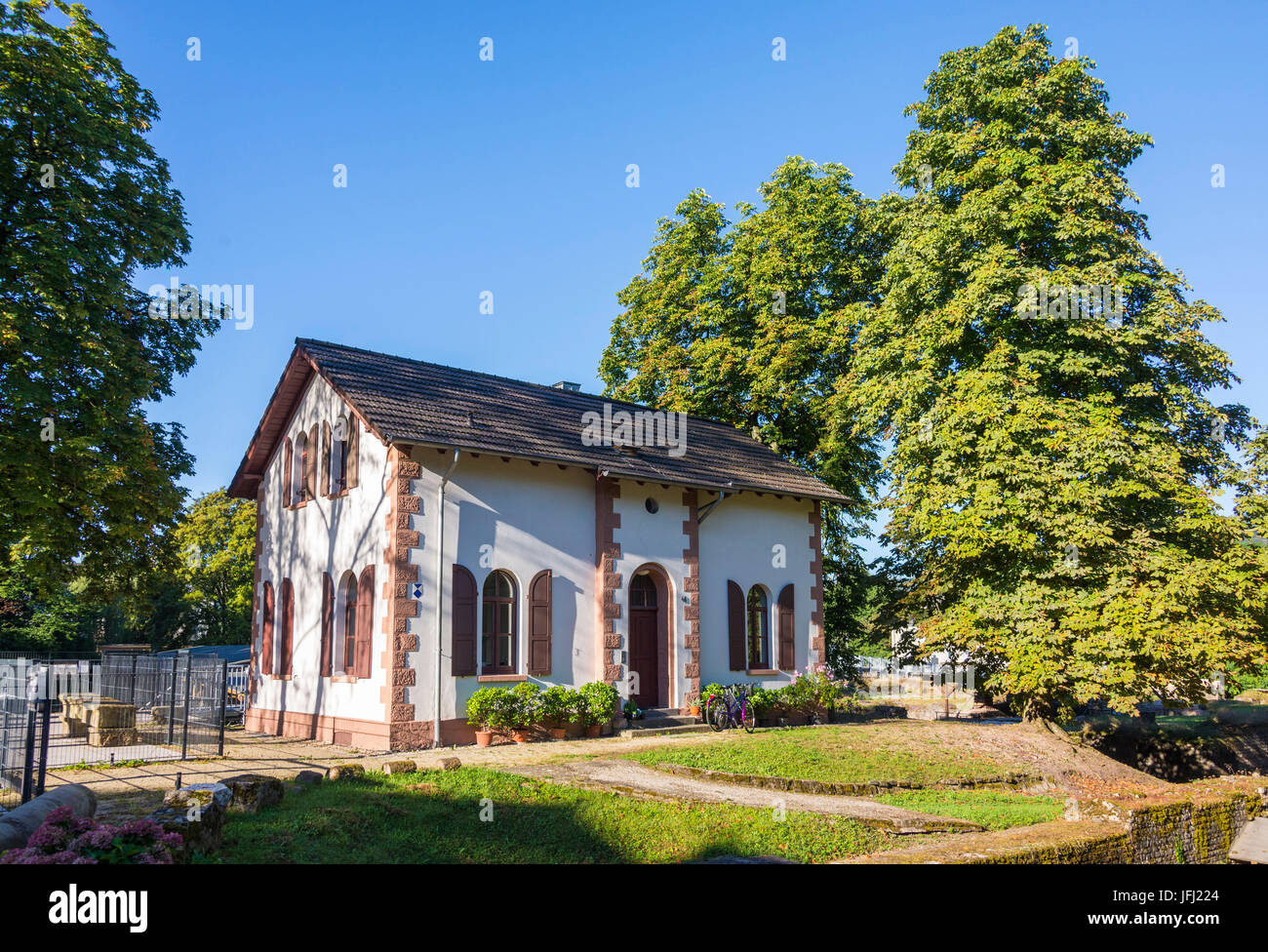Europe, Germany, Rhineland-Palatinate, the Moselle, Moselle valley, Trier, Barbarathermen (thermal spas), Augusta - Stock Image