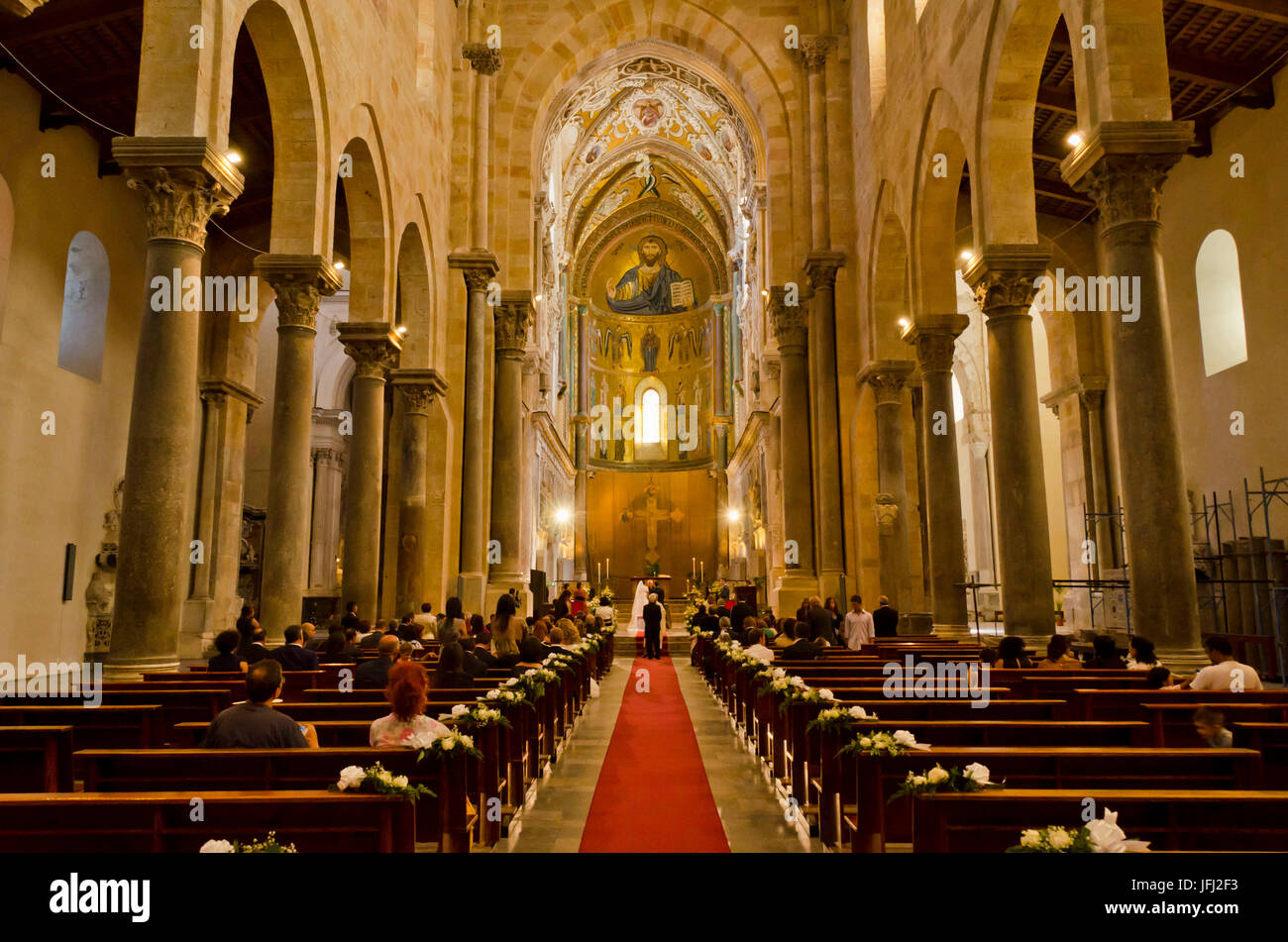 Italy, southern Italy, Sicily, Sicilia, Cefalú, cathedral San Salvatore - Stock Image