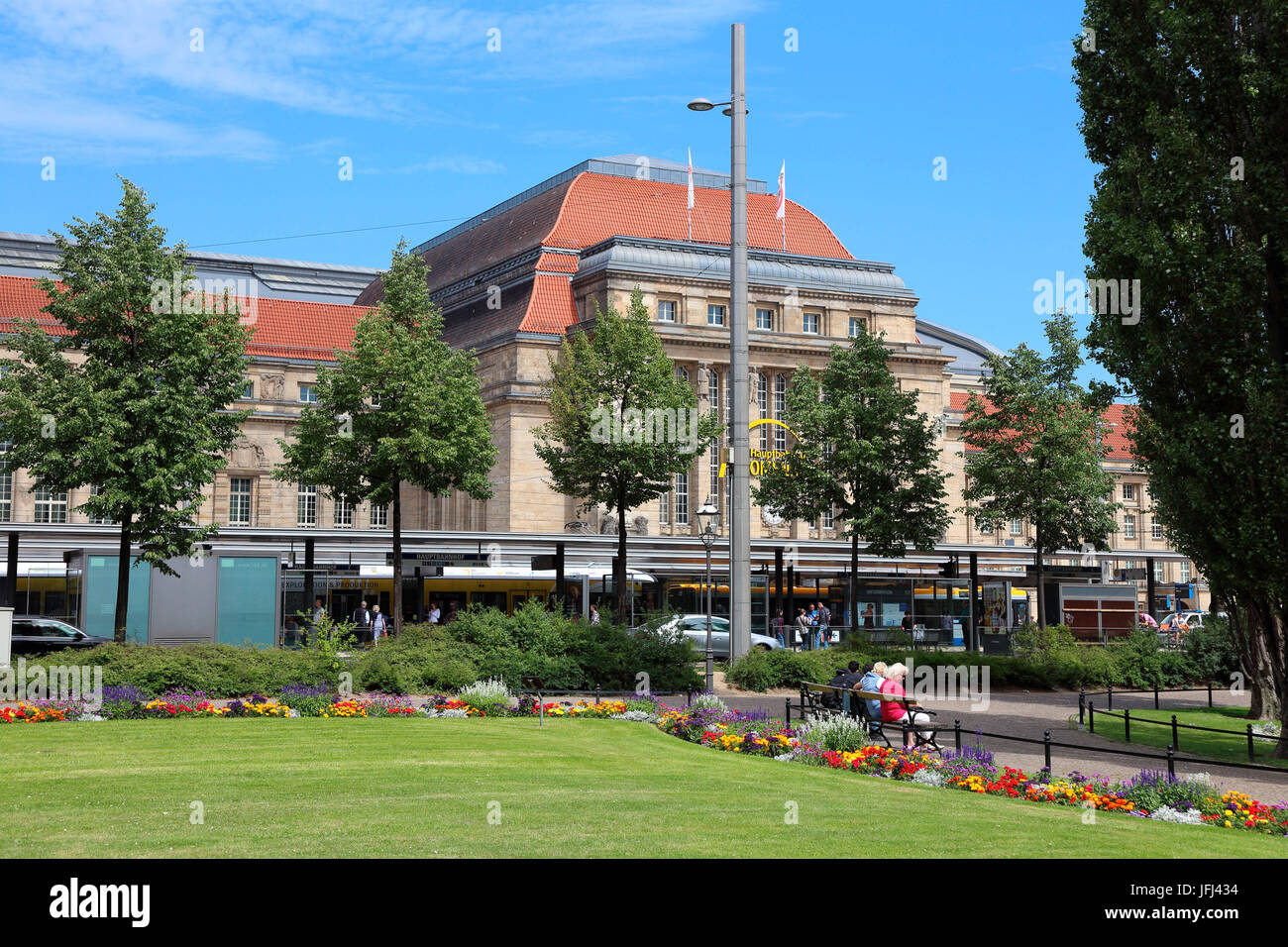 Leipzig central station promenades - Stock Image