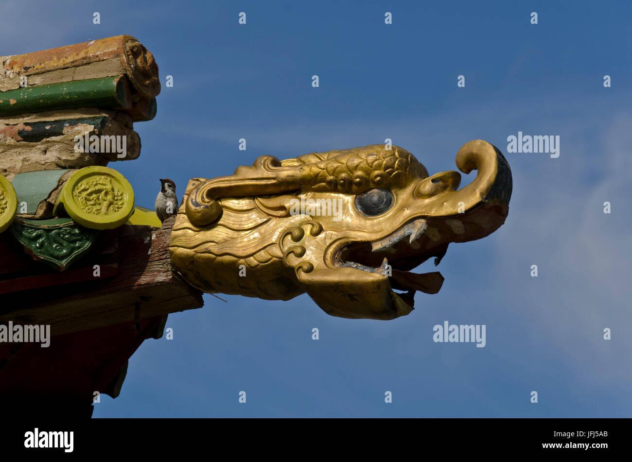 Mongolia, Central Asia, Karakorum / Qara Qorum, cloister of Erdene Zuu, capital of Genghis Khan - Stock Image