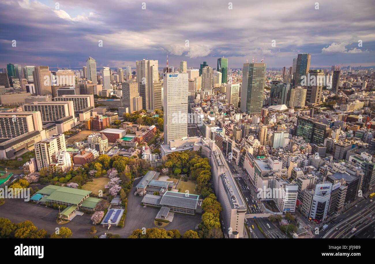 Japan, Tokyo City, Akasaka, Toranomon, Roppongi Hills areas - Stock Image