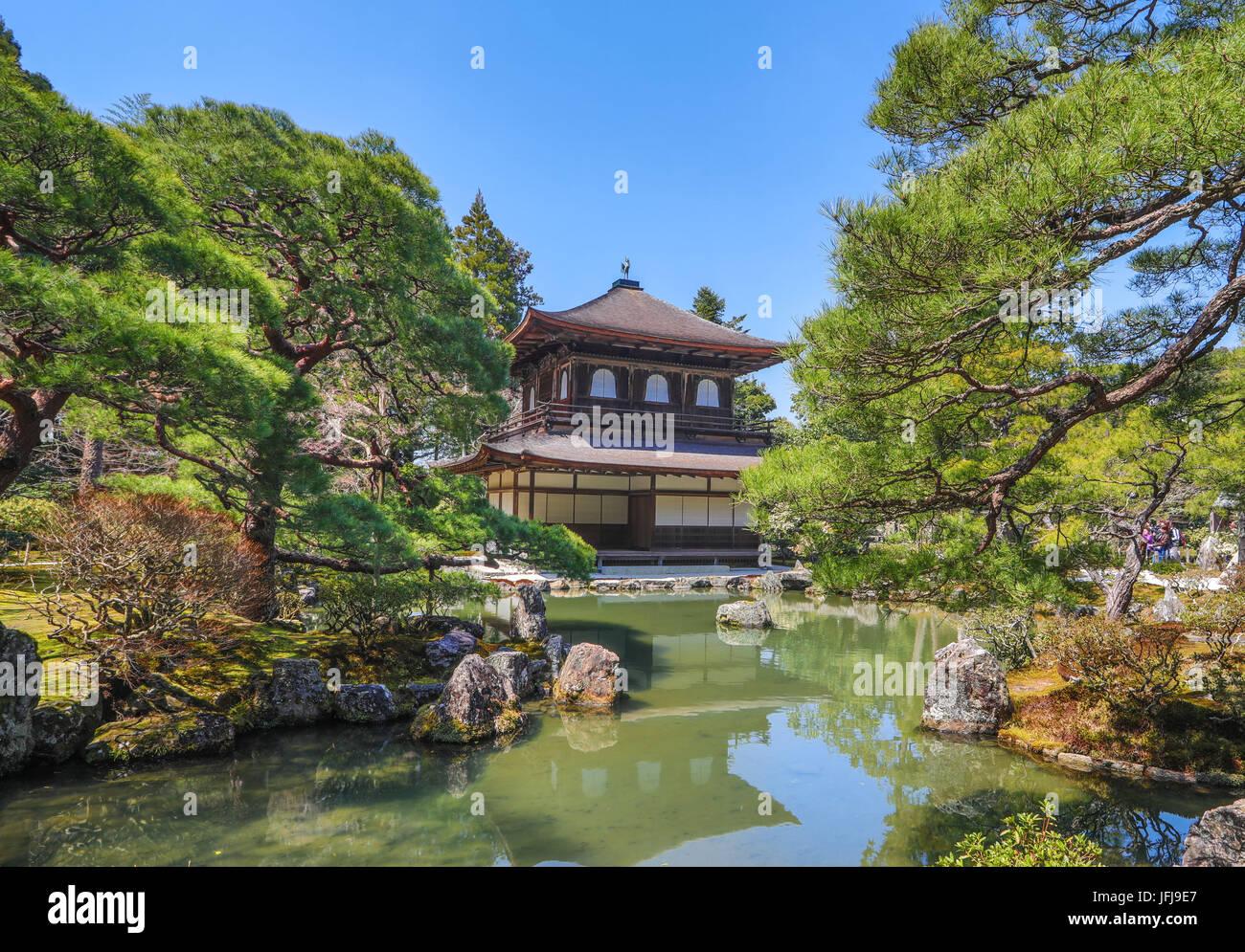 Japan, Kyoto City, Ginkaku-Ji Pavilion - Stock Image