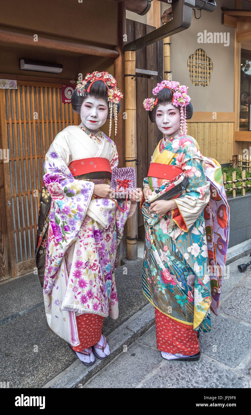 Japan, Kyoto City, Geishas - Stock Image