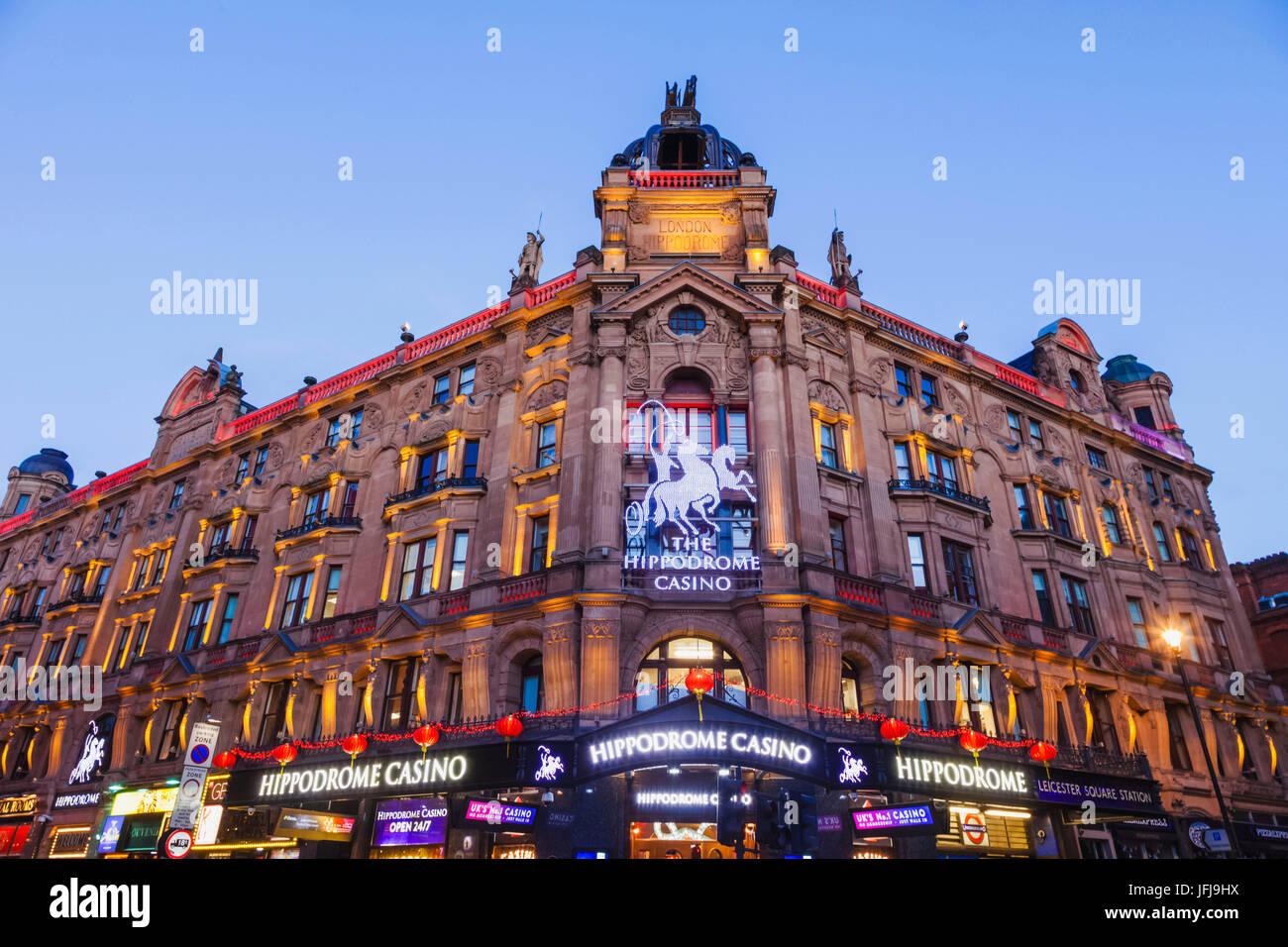 England, London, Soho, Leicester Square, The Hippodrome Casino - Stock Image