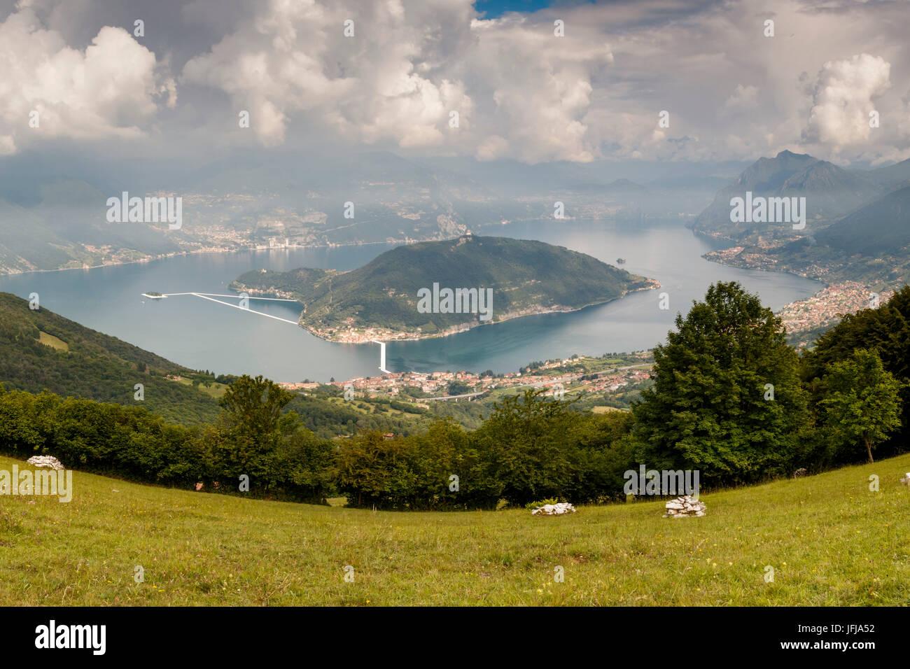 Iseo Lake, Italy, Montisola, - Stock Image