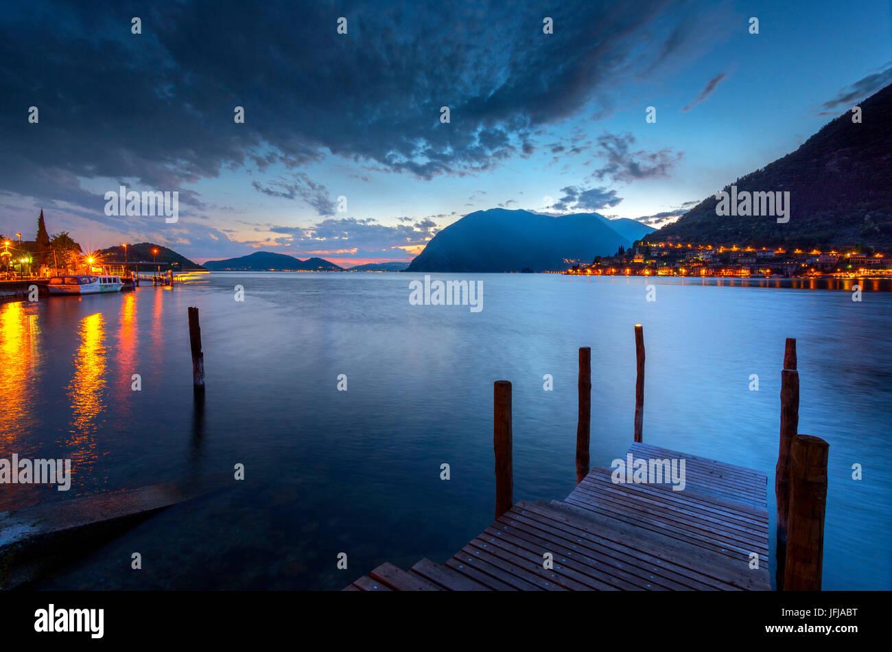 Peschiera Maraglio, Montisola, Brescia province, Lombardia district, Italy - Stock Image