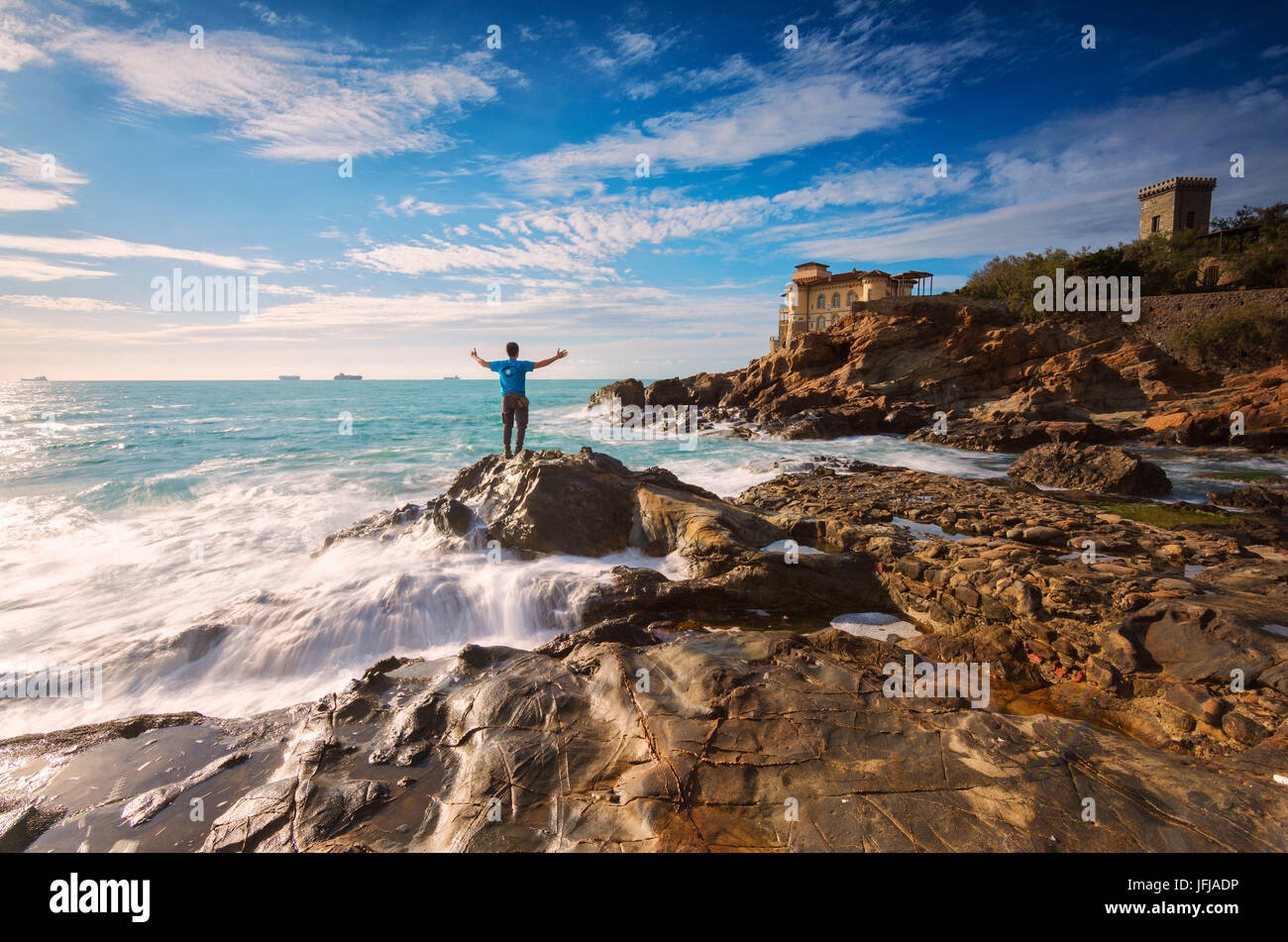 Europe, Italy, Boccale Castle, province of Livorno, Tuscany, - Stock Image