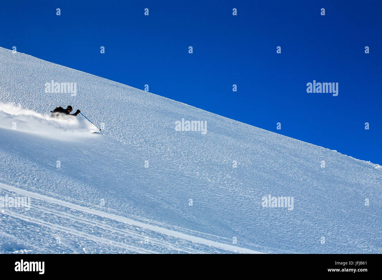 Orobie alps, freeride at Arigna valley, Lombardy, italy - Stock Image