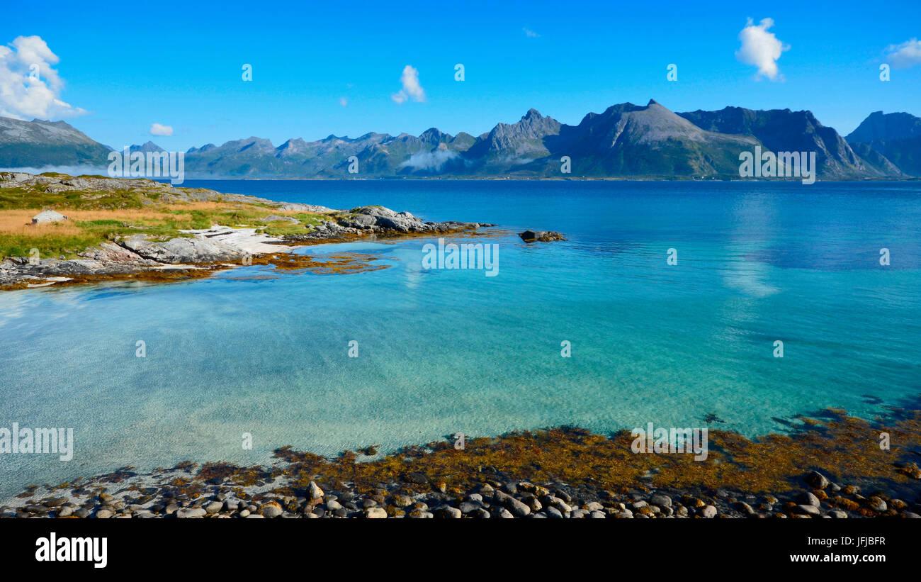 Lofoten Island, close to Valnes (Vestvågøy), Norway, Europe - Stock Image
