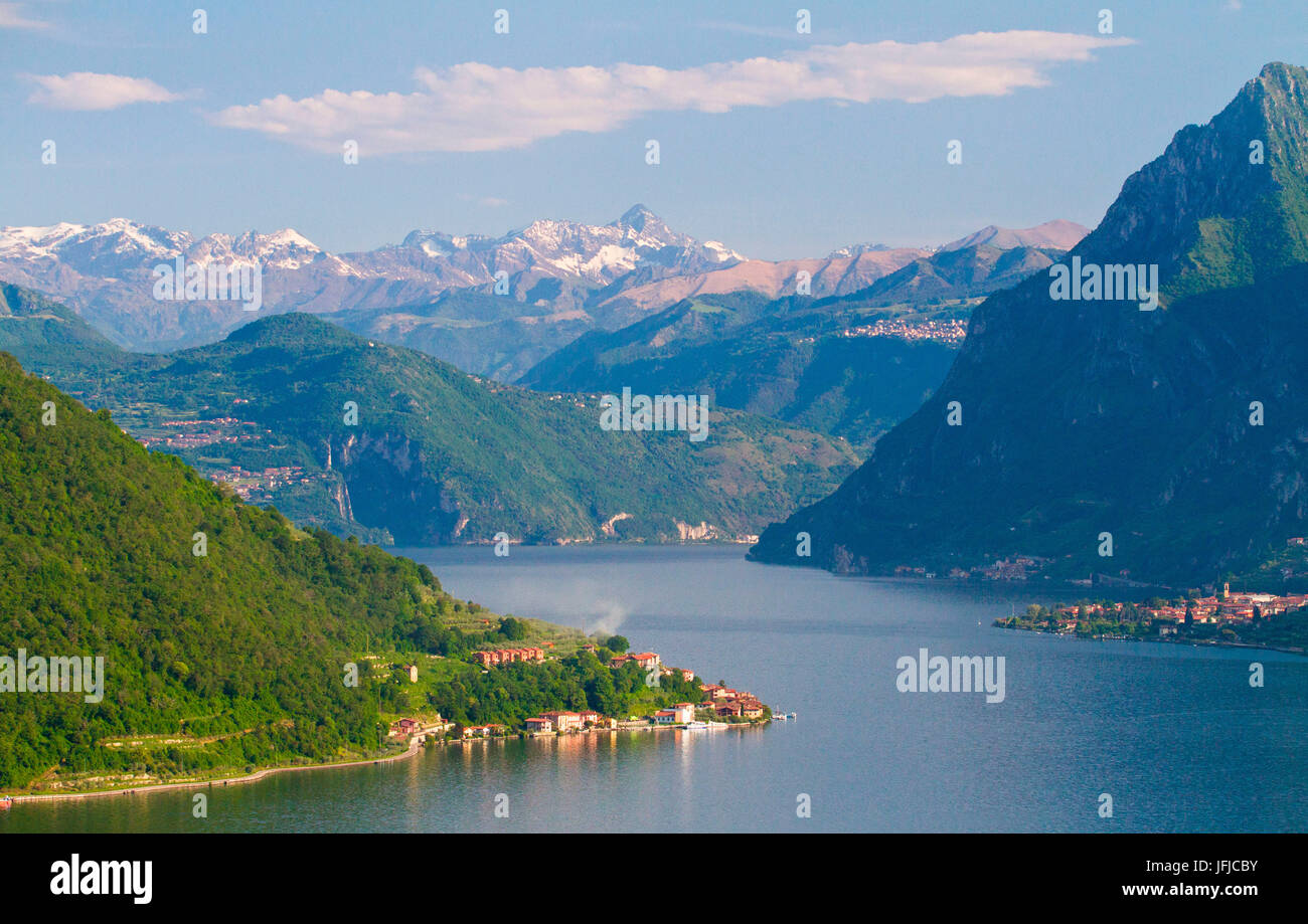 Europe, Italy, Lombardy, The Iseo lake - Stock Image