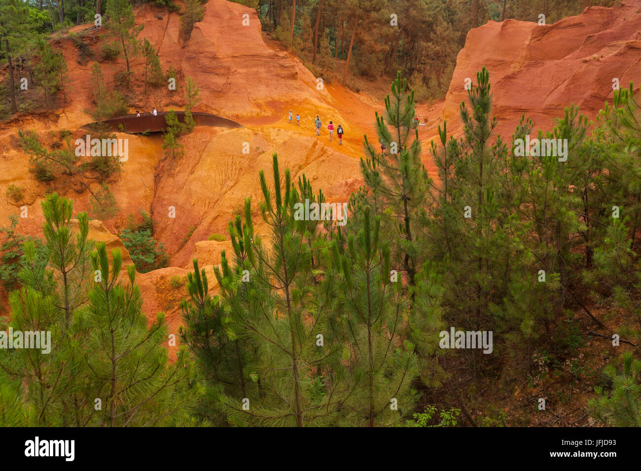 Roussillon, Provence, France, The ocher quarries in Roussillon, - Stock Image